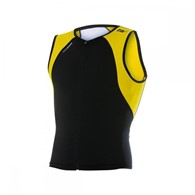 Zerod koszulka uSINGLET Black/Yellow/White L