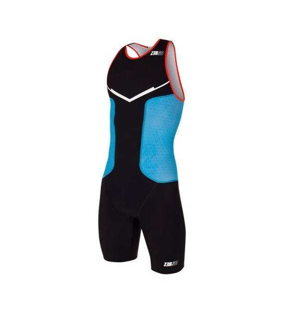 Zerod Racer Trisuit Man Black/Atoll/Orange S
